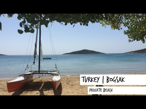One of Turkey's private beaches | Boğsak | Travel Vlog