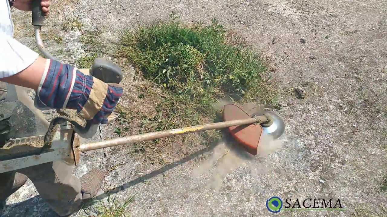 Weed brush for grass trimmers - YouTube