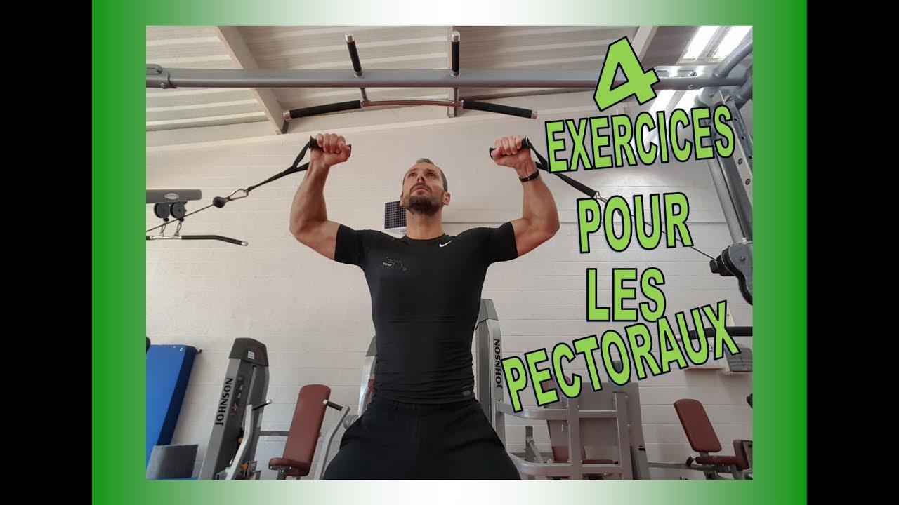 4 exercices de musculation pour les pectoraux - YouTube