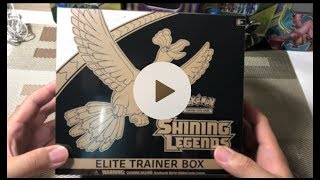 Pokemon TCG 开箱  SHINING LEGENDS ELITE BOX OPENING
