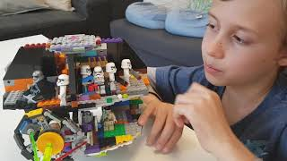 Oliver shows off his homemade Lego Death Star