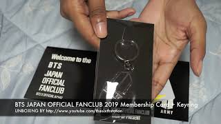 방탄소년단 防弾少年団 BTS JAPAN OFFICIAL FANCLUB 2019 Membership Card + Keyring Unboxing