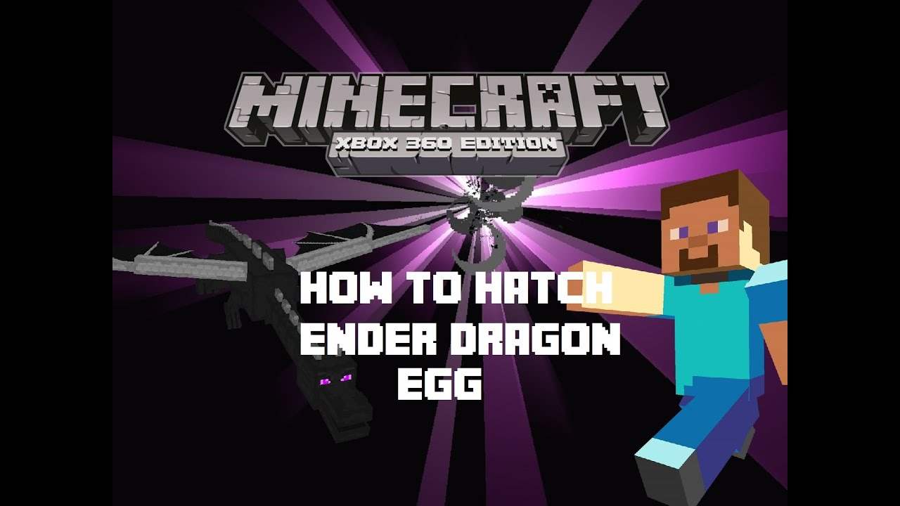 Minecraft How To: Hatch Ender Dragon egg - YouTube
