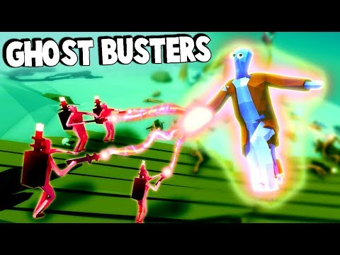 TABS Ghost Busters & Giant Battles!  (Totally Accurate Battle Simulator Gameplay - TABS Halloween)