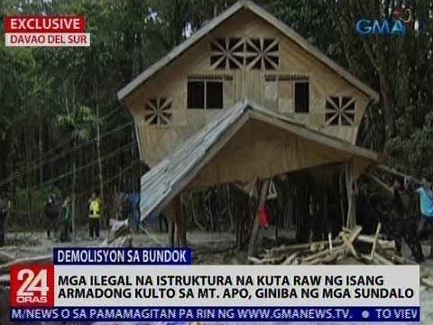 Exclusive: Mga ilegal na istruktura na kuta raw ng isang armadong kulto sa Mt. Apo, giniba