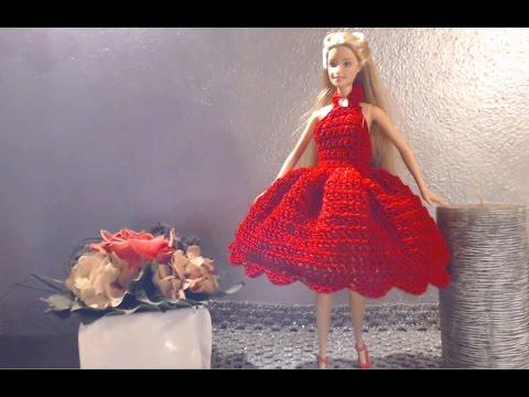 Vestito Barbie 1 Versione 2 Uncinetto Youtube