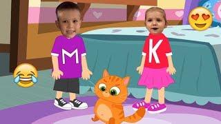 ???? Мисс Кэти и Мистер Макс???? Катя и Макс???? Мурка блохи в кота Новая серия 2019 видео для детей???? / Видео