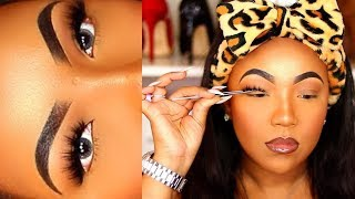 HOW TO Apply False Eyelashes for BEGINNERS QUICK AND EASY !