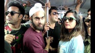Fukrey Returns Full Cast Travel In Mumbai Metro...