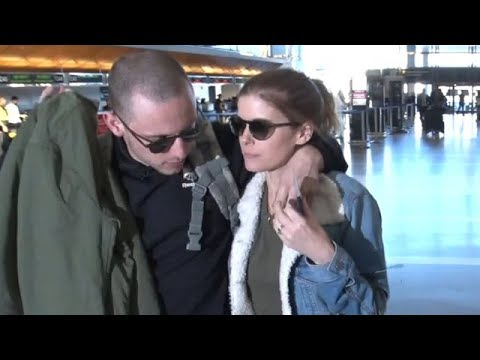 Kate Mara Traveling With Bald Hubby Jamie Bell