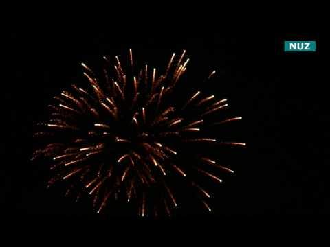 New Year's Eve fireworks 2017 in Schwaig b. Nuremberg