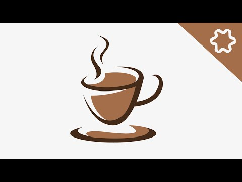 Coffee Cafe Cup Logo Design Tutorial / Adobe illustrator CS6 / How to Make Coffee Simple Logo