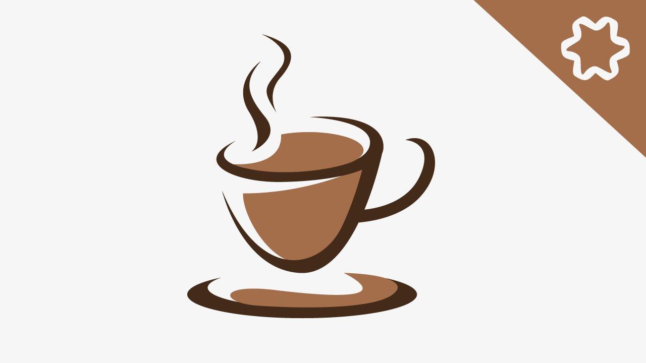 Coffee Cafe Cup Logo Design Tutorial Adobe Illustrator