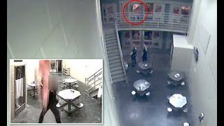 Guard catches suicidal inmate who jumped off balcony