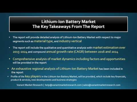 Lithium-Ion Battery Market-Global Scenario, Market Size, Outlook, Trend and Forecast, 2015-2024