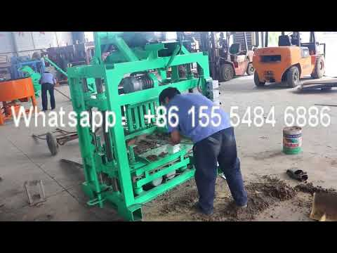 Fuda QT40 2 Bitcoin Multi Functional Cement Concrete Brick Making Machine for Cambodia Customer