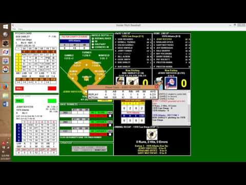 Inside Pitch Baseball IP PC Game 1978 San Diego Padres at Atlanta Braves
