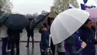 Митинг профсоюзов в Барнауле