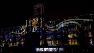 Екатеринбург площадь 1905 года Елка 2016.12.30 Лазерное шоу 2
