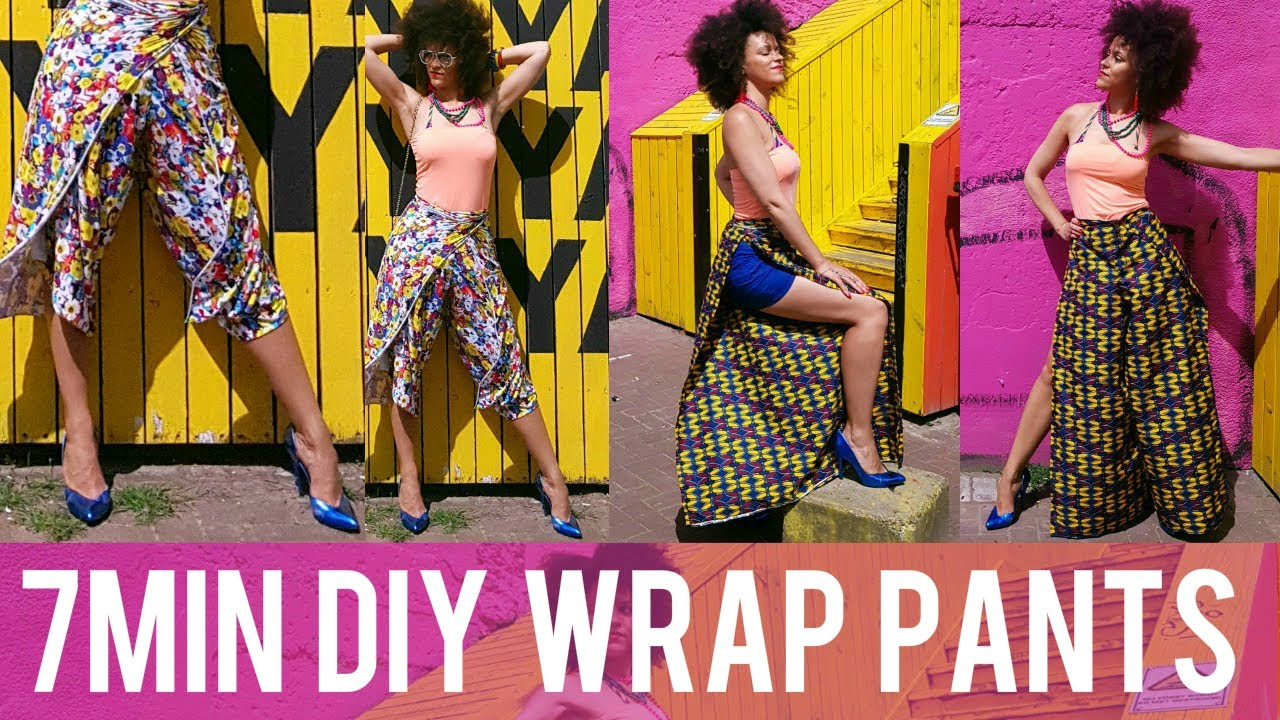 How to wear and make wrap pants images