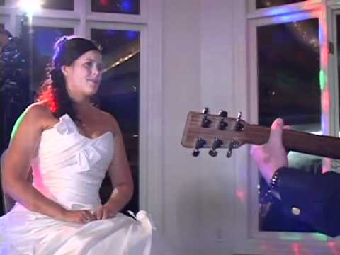 Groom surprises bride for their first dance. Jason & Nicole~ Wedding
