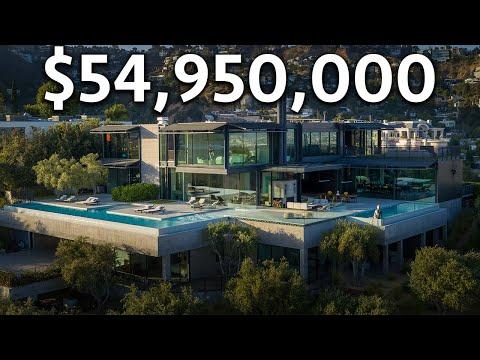Touring a $54,950,000 Futuristic Los Angeles MEGA MANSION!