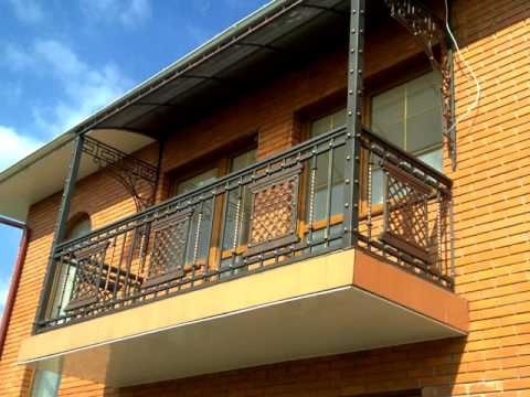 Перила 85  Металлические балконные перила Днепр фото перила для балкона ковка металла Днепропетровск
