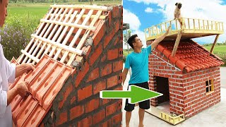 how to make Amazing Dog Pet House with Bricks - Bricklaying Model