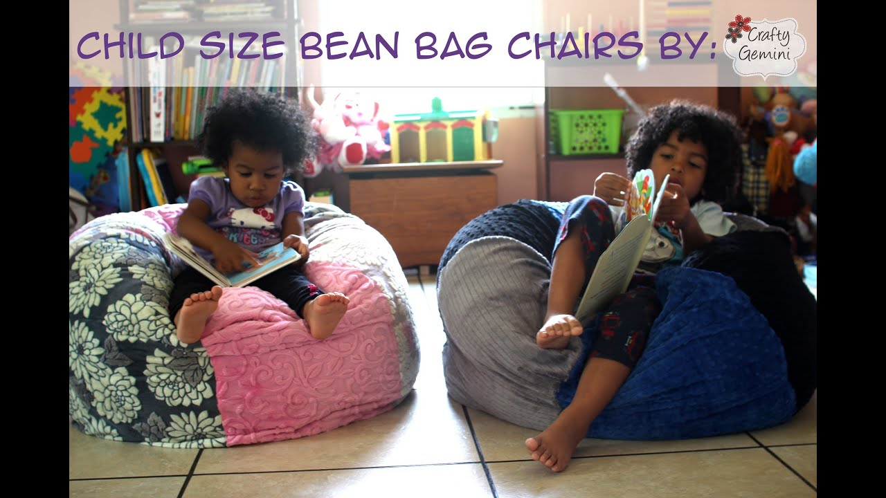 What Size Bean Bag Chair Do I Need Personalized Childrens Table And Chairs How To Make A Child Giveaway Youtube