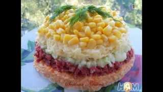 Рецепт салата  Салат Предвкушение с морковью, колбасой и огурцом  Пошаговый рецепт с фото