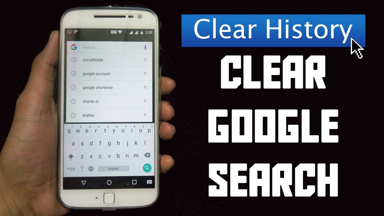 how to delete youtube history on android