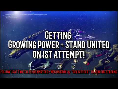 Warframe - Getting Growing Power + Stand United on 1st Attempt!