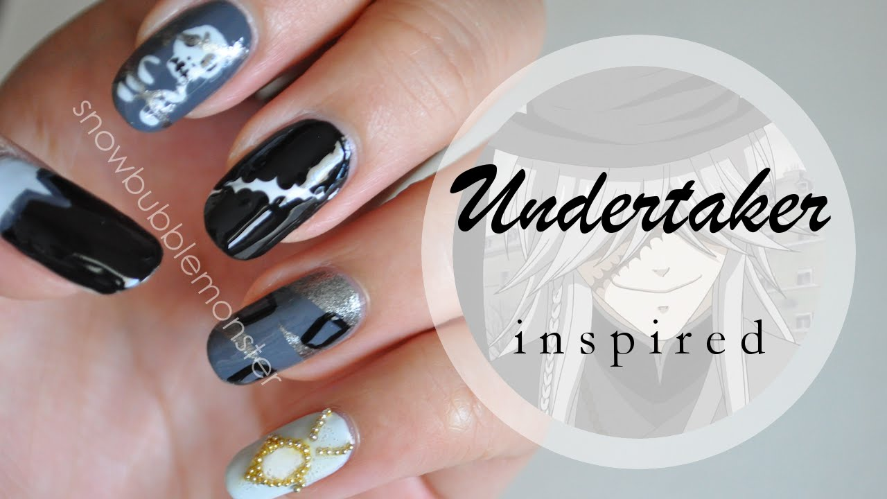 Kuroshitsuji • Undertaker Inspired Nails | snowbubblemonster - YouTube