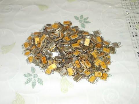 Золото из 1000  микросхем серии 133 !