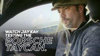 Watch Jay Kay testingtheall-electric Porsche Taycan at Silverstone