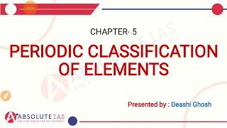 Chapter 5 - Periodic Classification of Elements | Class-10 Science NCERT