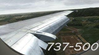 Flight Simulator X 2013 - Landing of Boeing 737 Classic! [HD]
