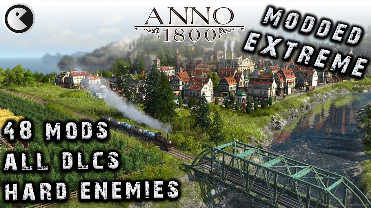 ANNO 1800 MODDED EXTREME #33 GOLDEN ORNAMENTS || 2020 City Builder HARD AI – ALL DLCs English