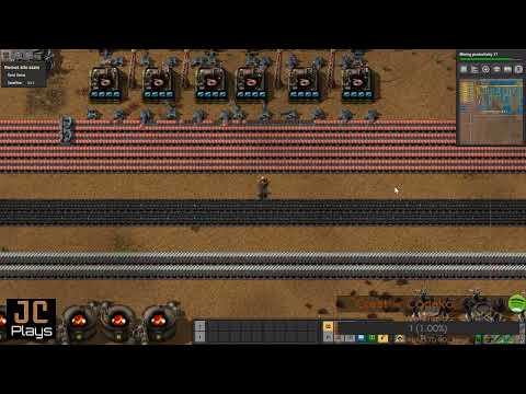 JC Plays Factorio Live #49 - 288 Hrs - More Nuke Cell Work, Trains Belts Fluids