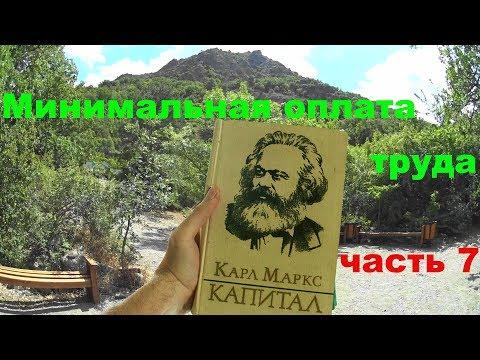 Минимальная оплата труда - Карл Маркс Капитал ч7. Медведь гора.