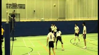 2008 09香港學界 第一組 男子排球丙組決賽長天對拔萃