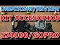 UNBOXING MINI REVIEW ACCESORIOS GOPRO/SJ4000 (Monopod, Arnés de cabeza y de pecho)