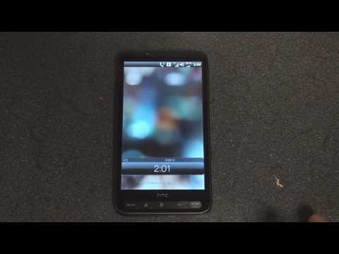 HTC HD Mini Unlock Screen on an HD2