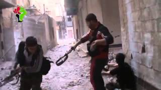 Syria. FSA Friendly fire insurgent shoots his friend by mistake