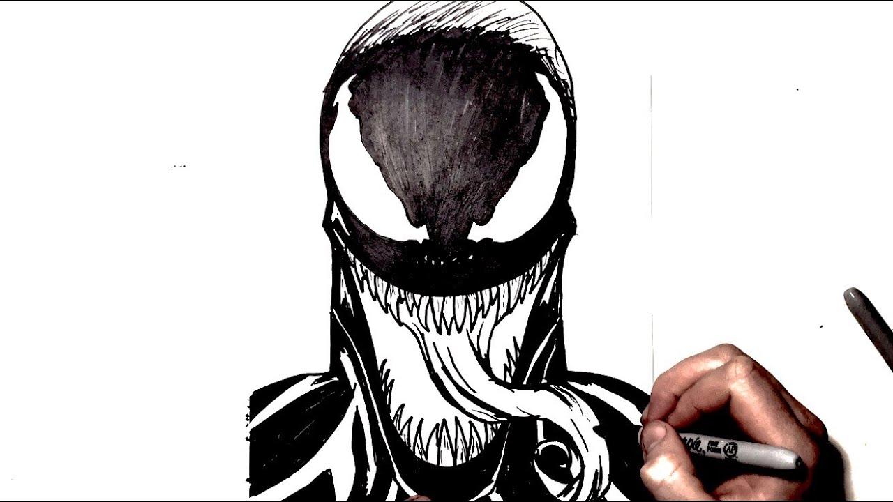 How To Draw Venom Step By Step Youtube
