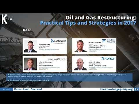 Oil and Gas Restructuring