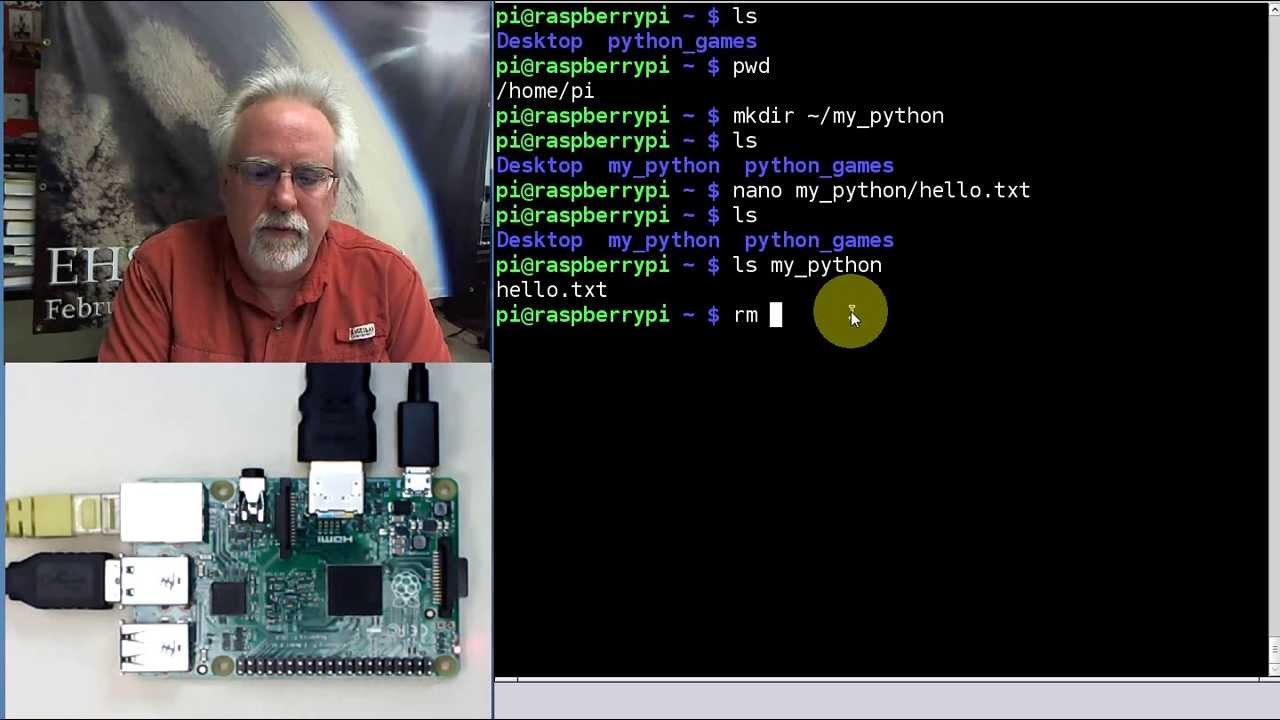 Raspberry Pi Linux LESSON 24: Running Python on the