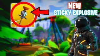 *NEW* Clinger Grenade Item Gameplay (PS4 Pro) Fortnite Livestream