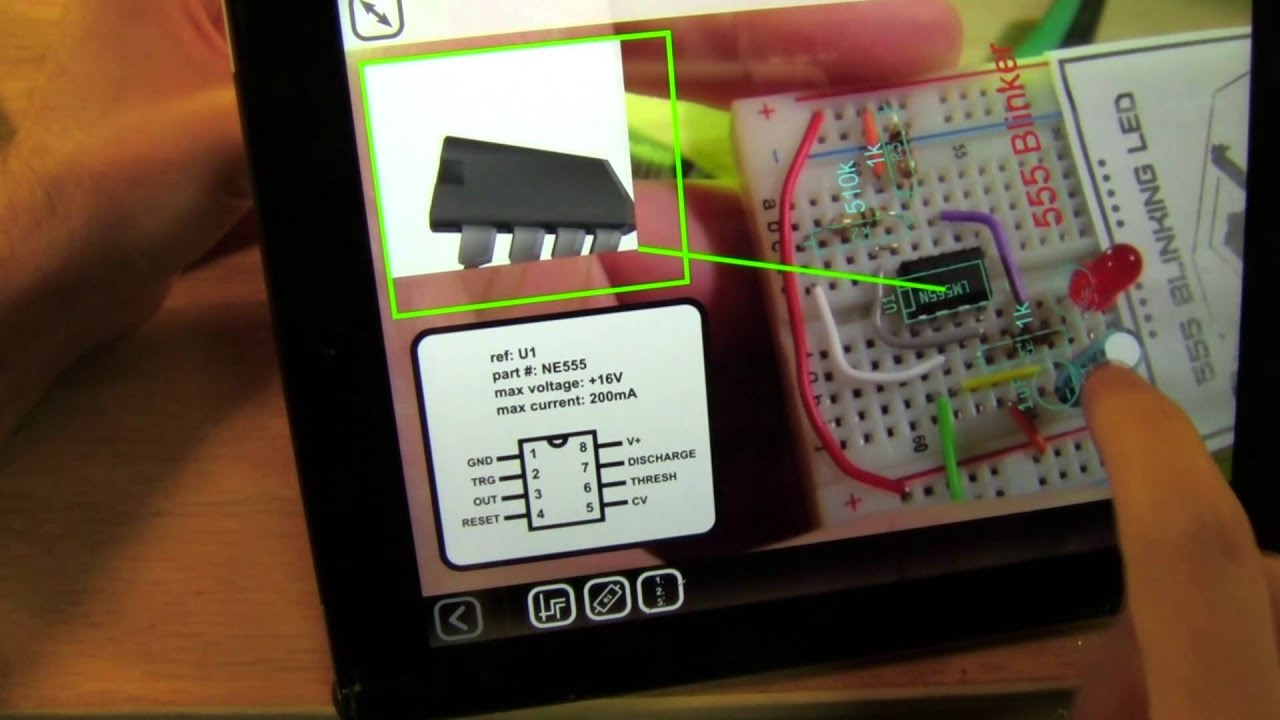Augmented Reality Breadboard Circuit Building Guide Youtube Electronic Circuits Simple Electronics Electronical Basic