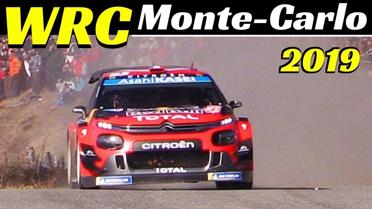 WRC Rallye Monte-Carlo 2019 - Ps10 Saint Leger Les Melèzes-La Bàtie Neuve highlights & EPIC Flat